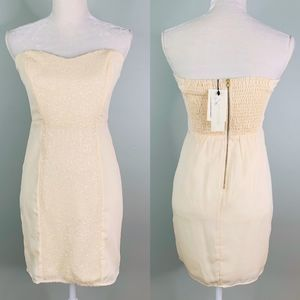 MM Couture by Miss Me Dress Small Mini Cream New